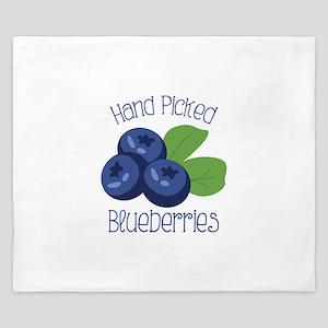 Hand Picked Blueberries King Duvet