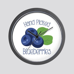 Hand Picked Blueberries Wall Clock