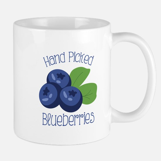 Hand Picked Blueberries Mugs