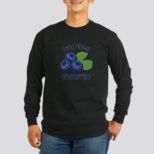 Hand Picked Blueberries Long Sleeve T-Shirt