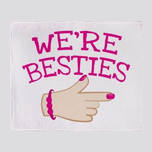 Were BESTIES with hand pointing Right in pink BEST