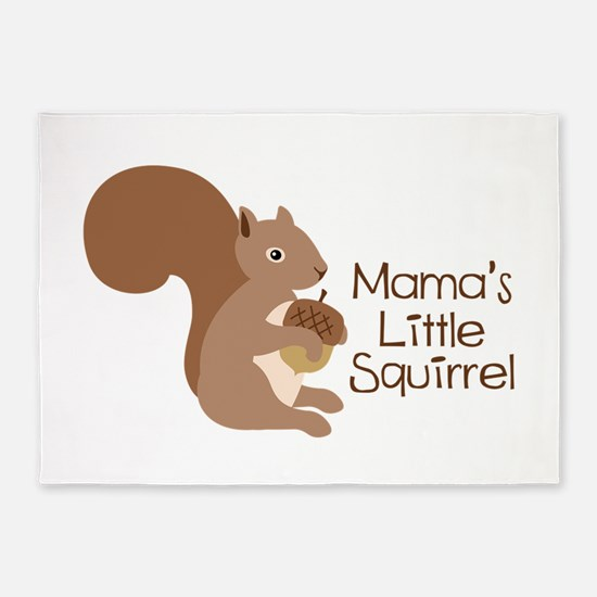 Mamas Little Squirrel 5'x7'Area Rug