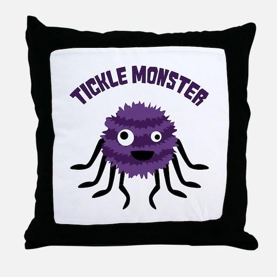TICKLE MONSTER Throw Pillow