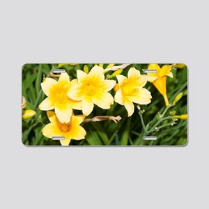 Yellow lilies Aluminum License Plate