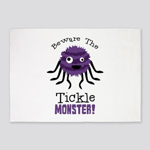 Beware The Tickle Monster! 5'x7'Area Rug