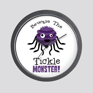 Beware The Tickle Monster! Wall Clock