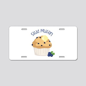 Stud Muffin Aluminum License Plate