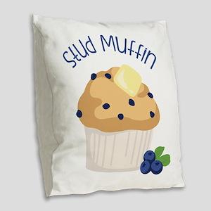 Stud Muffin Burlap Throw Pillow