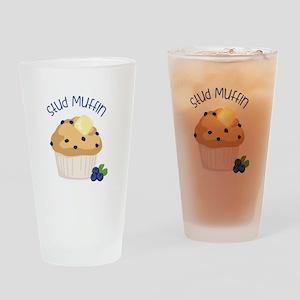Stud Muffin Drinking Glass