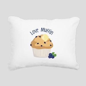 Love Muffin Rectangular Canvas Pillow