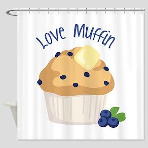 Love Muffin Shower Curtain