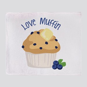 Love Muffin Throw Blanket