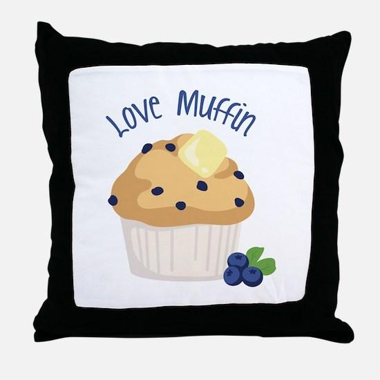 Love Muffin Throw Pillow