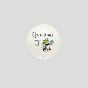 Playful Grandma To Bee Mini Button