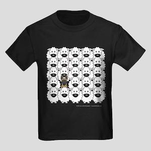 Malinois and Sheep Kids Dark T-Shirt
