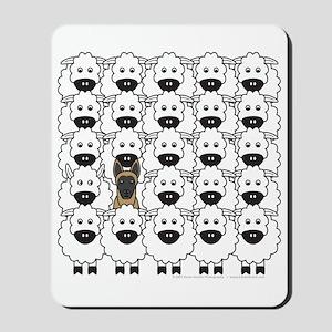 Malinois and Sheep Mousepad