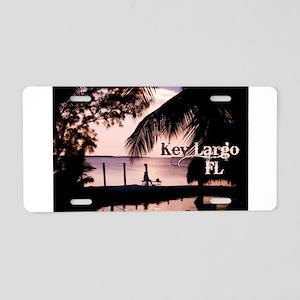 Key Largo, FL Sunset Aluminum License Plate