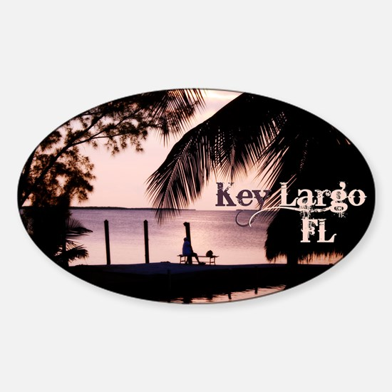 Key Largo, FL Sunset Decal