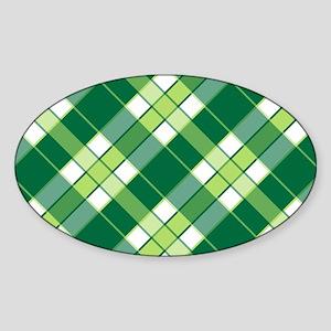 CELTIC PLAID Sticker (Oval)
