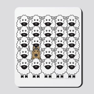 Tervuren and Sheep Mousepad