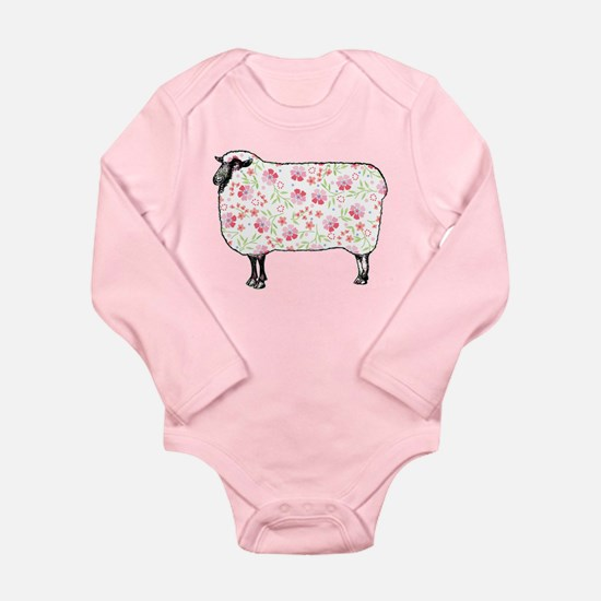 Floral Sheep Body Suit