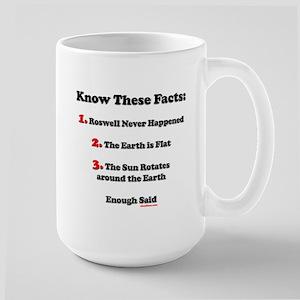 Roswell UFO 1947 Never Happened Large Mug