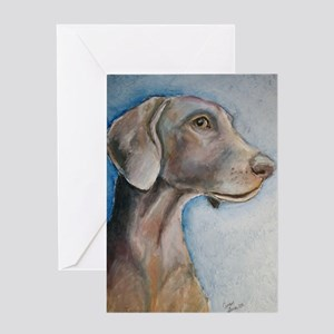 Greta a Weimaraner Greeting Cards