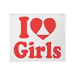 I Heart Girls Throw Blanket