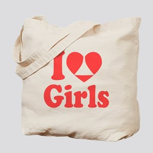 I Heart Girls Tote Bag