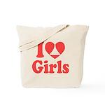 I Heart Girls Tote Bag