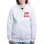 I Heart Girls Zip Hoodie