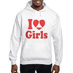 I Heart Girls Hoodie