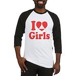 I Heart Girls Baseball Jersey