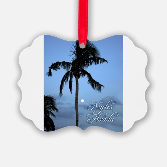 Palm Tree with Moon in Naples, FL Ornament