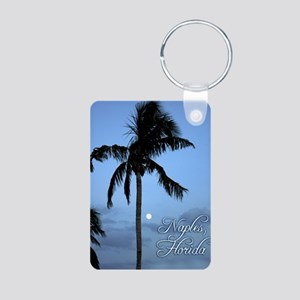 Palm Tree with Moon in Naples, FL Keychains