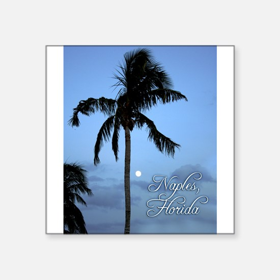 Palm Tree with Moon in Naples, FL Sticker