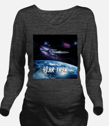 Star Trek Enterprise 1701 Long Sleeve Maternity T-