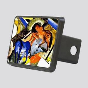 Franz Marc - Two Horses in Rectangular Hitch Cover