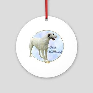 Wolfhound Portrait Ornament (Round)