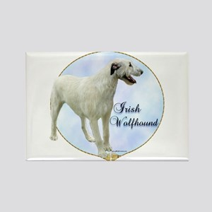 Wolfhound Portrait Rectangle Magnet