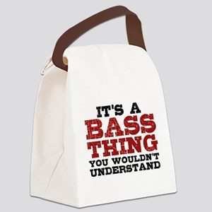 It's a Bass Thing Canvas Lunch Bag