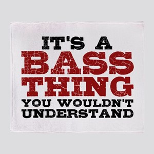 It's a Bass Thing Throw Blanket