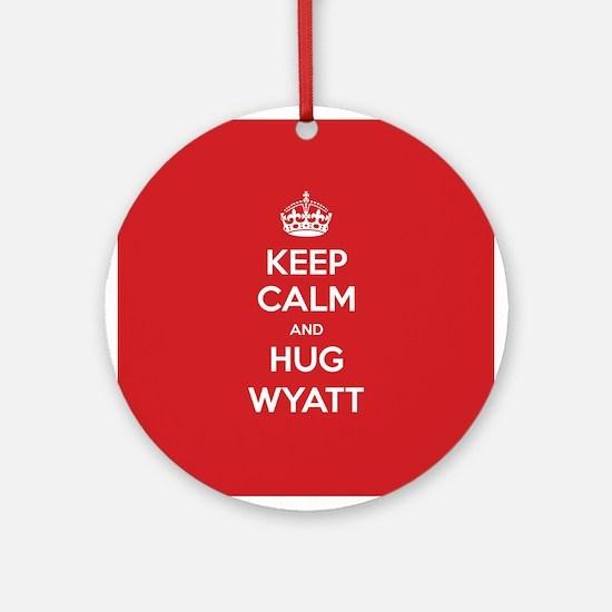 Hug Wyatt Ornament (Round)