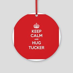 Hug Tucker Ornament (Round)