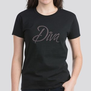 Diamond Diva Bling with Kiss Lips Graphic Tee T-Sh