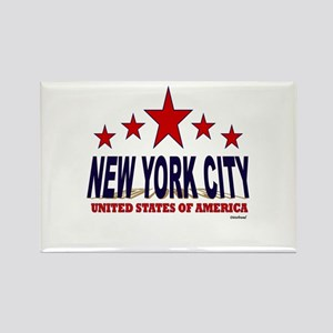 New York City U.S.A. Rectangle Magnet