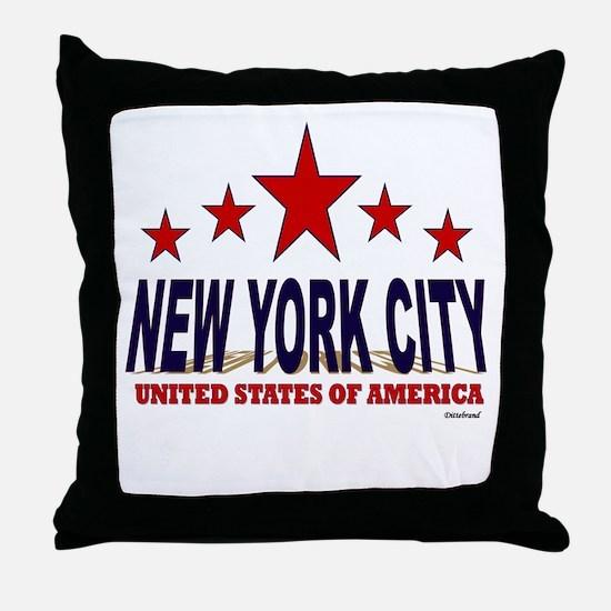 New York City U.S.A. Throw Pillow