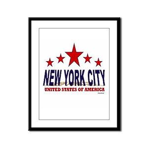 New York City U.S.A. Framed Panel Print