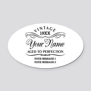 Personalize Funny Birthday Oval Car Magnet