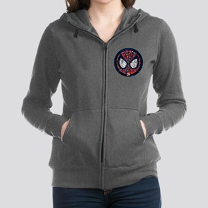 Spiderman Mask Women's Zip Hoodie